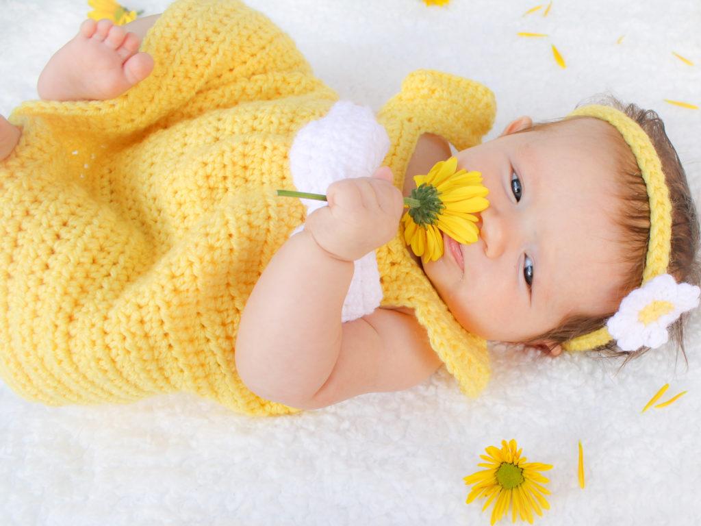 Simply Spring Crochet Baby Dress: Newborn-6 Months